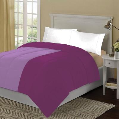 KIAANA USA Plain Double Quilts & Comforters Egg Plant, Lilac