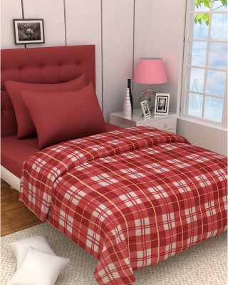 Zyne Checkered Double Blanket Red