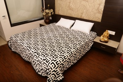 Tima Geometric Double Blanket White