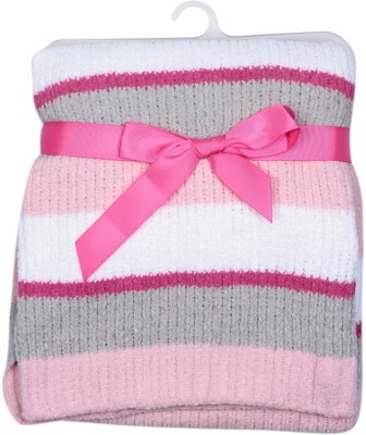 Hudson Baby Striped Single Top Sheet Pink