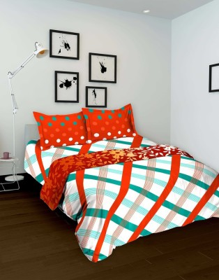 Tomatillo Geometric Single Quilts & Comforters Green, Orange