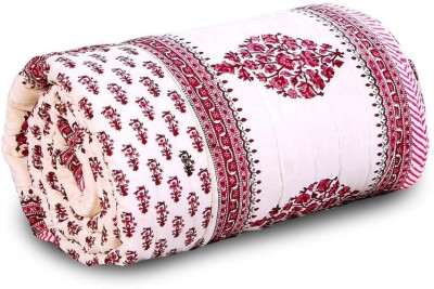 Little India Floral Double Quilts & Comforters Brown