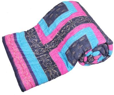 Jaipurtextilehub Checkered Double Quilts & Comforters Multicolor