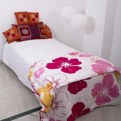Smile2u Retailers Floral Single Dohar Multicolor