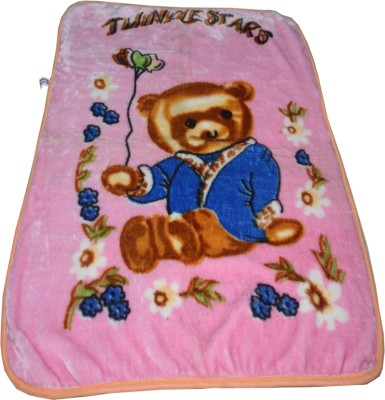 Shivkirpa Cartoon Crib Crib Baby Blanket Blue