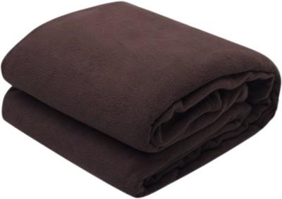 Shiv Fabs Plain Single Blanket Brown