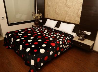 Tima Polka Double Blanket Black