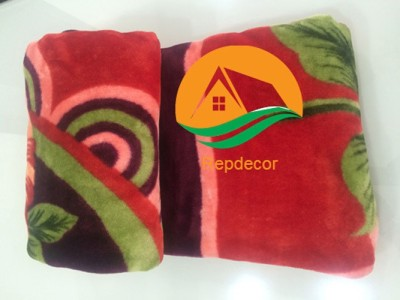 REPDECOR Printed Double Blanket Red