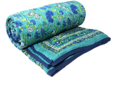 Roopantaran Floral Queen Quilts & Comforters Sea Green
