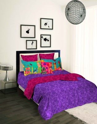 Tangerine Printed Single Quilts & Comforters Multicolor