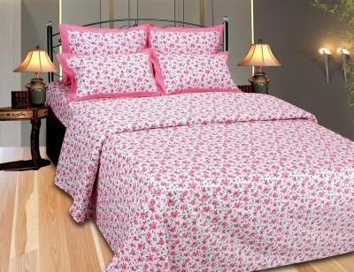 The Intellect Bazaar Floral Single Top Sheet Pink