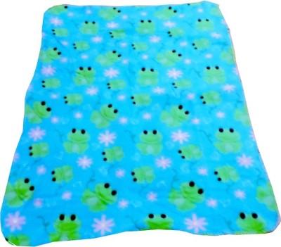 Blossoms Animal, Cartoon Single Blanket Multicolour