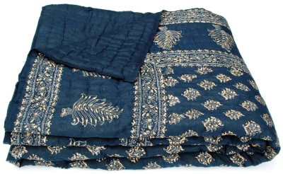 Buy Clues Paisley Double Quilts & Comforters Dark Blue