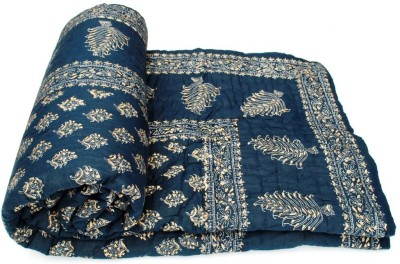 Sudharaj Floral Double Blanket Blue