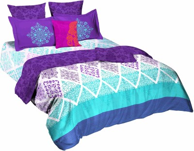Tangerine Geometric King Quilts & Comforters Multicolor