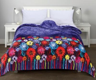 Esprit Floral Single Blanket Blue