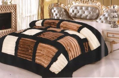 Wrap Geometric Double Quilts & Comforters Black, Brown
