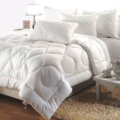 India Furnish Floral Double Quilts & Comforters White