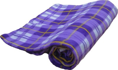 Wonder Collection Checkered Single Blanket Purple
