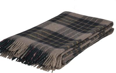 Home Boutique Damask Single Blanket Green