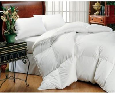 Linenwalas Plain Double Blanket, Quilts & Comforters White