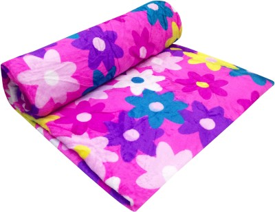 Indian Heritage Floral Double Blanket Pink