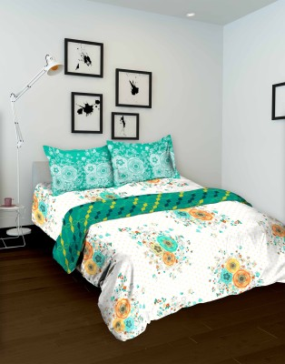 Tomatillo Floral Double Quilts & Comforters White, Blue