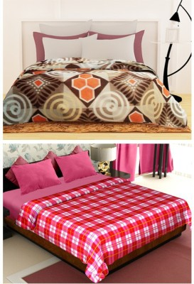 Story @ Home Floral Double Blanket Brown