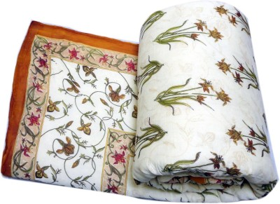 Bagrastore Floral King Quilts & Comforters Full White