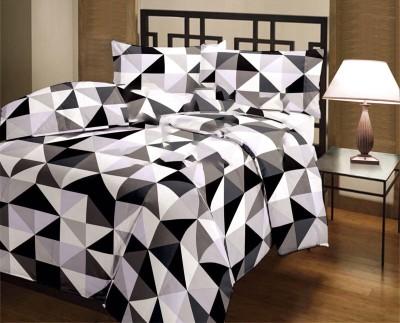 Factorywala Checkered Single Blanket Black