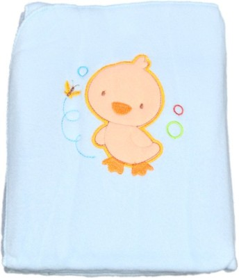 Mama & Bebe Embroidered Double Blanket Blue