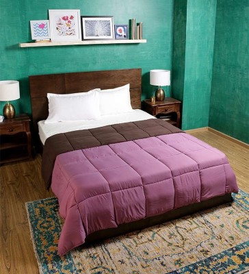 Bombay Dyeing Plain Double Quilts & Comforters Purple, Brown
