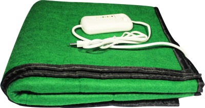 LeoSpark Plain Single Blanket Green