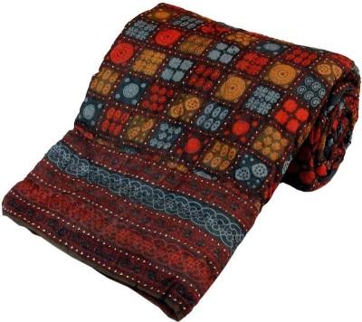 Bagrastore Floral Single Quilts & Comforters Maroon
