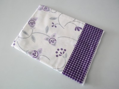 Deluxe Floral Single Top Sheet White, Purple