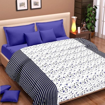 Cortina Floral Single Dohar Blue