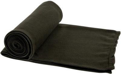 Aazeem Plain Single Blanket Dark Green