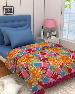 Zyne Floral Double Blanket Pink