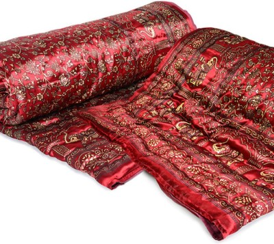 Ayushi Craft & Fashions Embroidered Single Quilts & Comforters Maroon