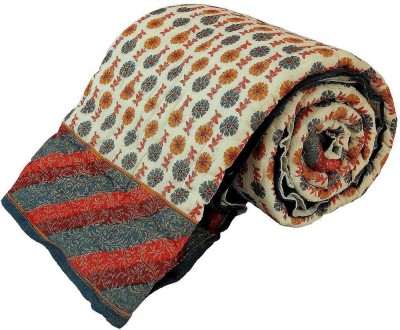 Shreemangalammart Floral Single Quilts & Comforters Multi-Color