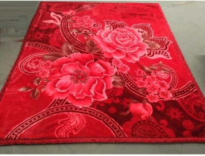 Florida Floral Double Blanket Red