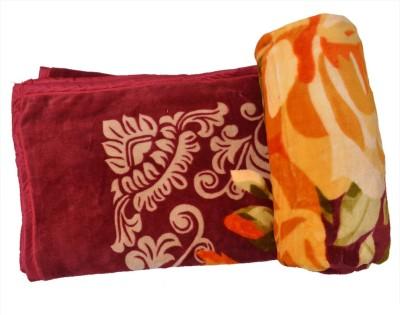 Urban Style Floral Double Blanket Multicolour