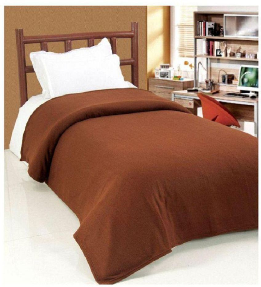 Diamoda Plain Single Blanket Brown