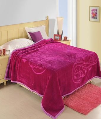 Bigshoponline Plain Double Blanket Pink