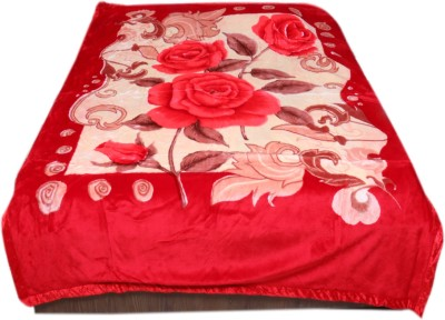IndiStar Floral Double Blanket Red