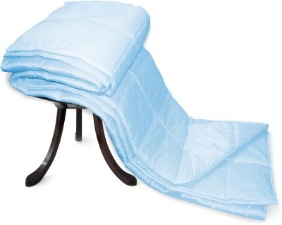 Zikrak Exim Plain Double Blanket Sky Blue