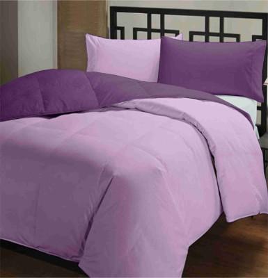 Featherlite Plain Single Duvet Dark Purple, Light Purple