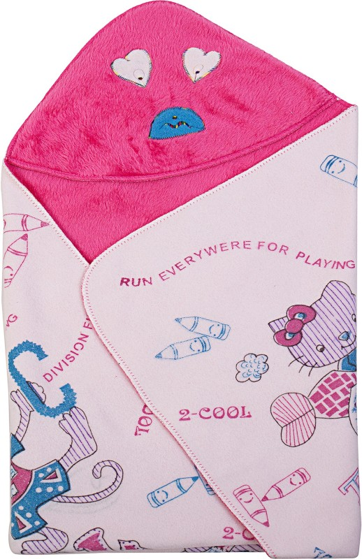 Utc Garments Cartoon Single Blanket Pink, Reddish Pink, White, Blue(1 Blanket)