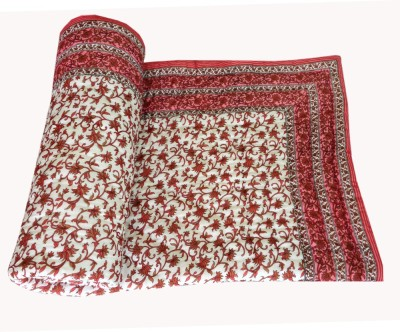 Factorywala Printed Single Quilts & Comforters Pink
