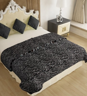 Home Candy Abstract Double Blanket Black